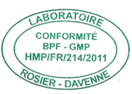 Certificat Laboratoire Rosier Davenne